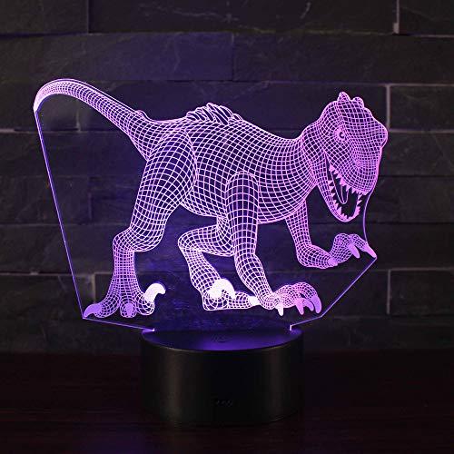 3D Illusion Nuit Lumière Win-Y LED Bureau Table Lampe 7 Couleur Tactile Lampe Maison Chambre Bureau Décor pour Enfants D'anniversaire De Noël Cadeau (Dinosaure U1)
