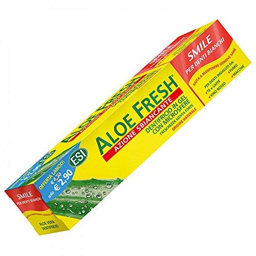 Aloe Fresh Smile Dentifricio in gel con microsfere (freschezza menta forte), aloe vera, 100 ml