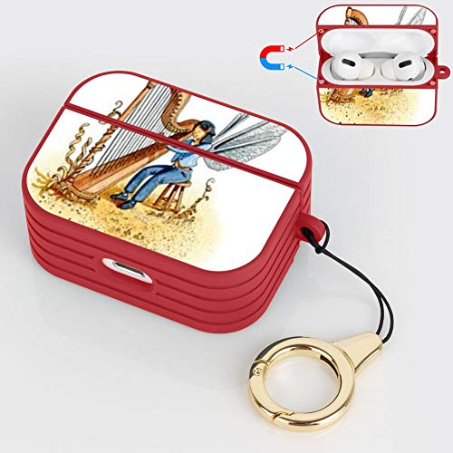 OOK Earphone Case AirPods Pro Case Autoharp Flexible TPU Magnet Shockproof Protective Shell AirPods Charging Compartment Box Lanyard
