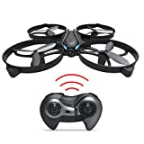 Haktoys HAK902 Mini RC 7.5' Drone with Strong Frame 2.4GHz 4 Channel 3D Flip/Roll LED Rechargeable Quadcopter Helicopter 6-Axis Gyroscope and Speed Modes, Great Gift