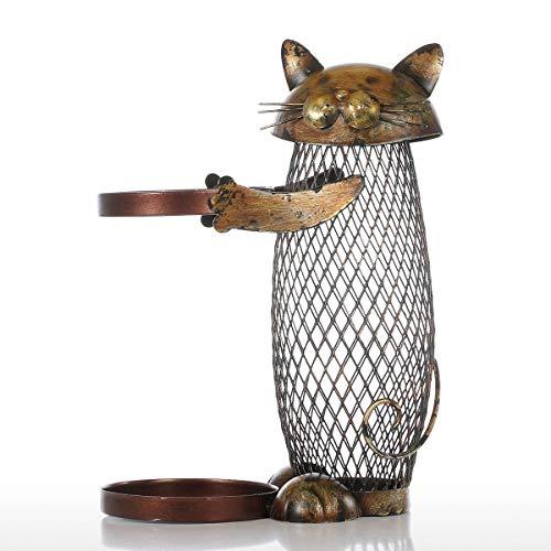 XKMY Housewares - Estante para vino, diseño de gato