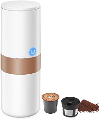 Coffee machine Portable Espresso Coffee Maker, 2 in 1 Coffee Machine for for Most Single Cup Pods including K-Cup Pods, With Reusable K Cup Filter, Rechargeable Battery, Perfect for Camping, Travel co