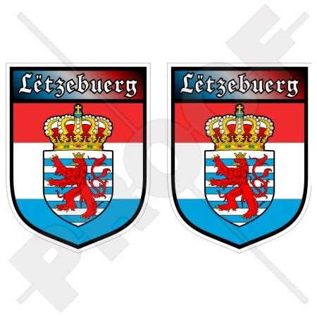 Akachafactory Aufkleber Sticker Autoaufkleber Wappen Schild Flagge Flaggen Fahne Luxemburg R2 Auto