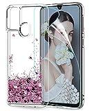 LeYi für Samsung Galaxy M31 Hülle Glitzer Handyhülle mit