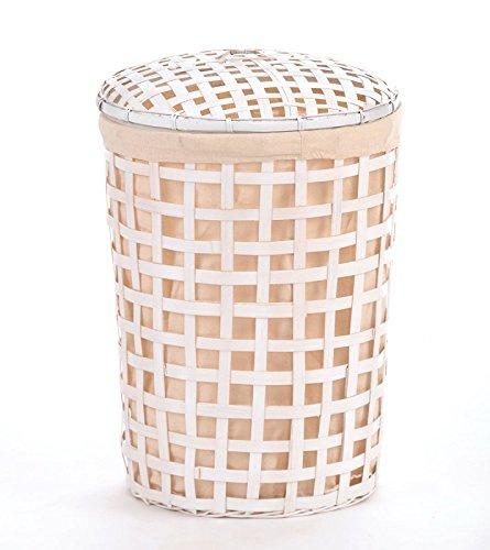 animal-design wasmand wit bamboe, ca. 55 L wasverzamelaar, wasbox, waston, wassorteerder