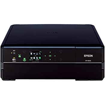 旧モデル エプソン Colorio インクジェット複合機 EP-804A 有線・無線LAN標準対応 スマートフォンプリント対応 先読みガイド&カンタンLEDナビ搭載 6色染料インク ブラックモデル