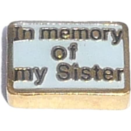in Memory of My Brother Floating Floating Charm for Heart Lockets