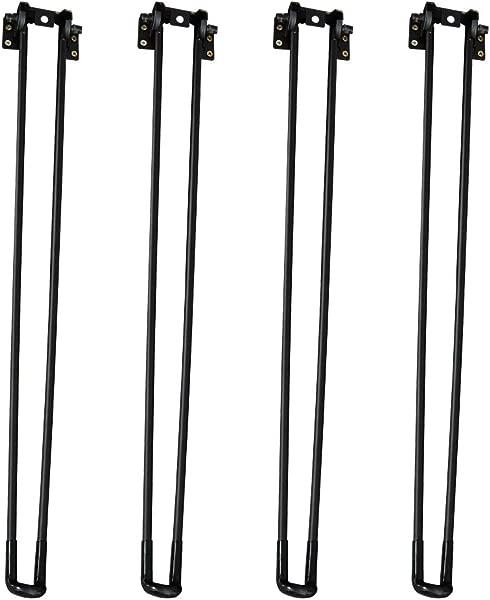 Need 28 Height Black Foldable Hairpin Table Legs Set Of 4 Folding Table Legs 3 8 Diameter KCH19C 71