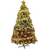 GCSQF Albero di Natale Artificiale Deco Albero di Natale Leggero con Aghi di Pino, Albero di Natale con Arance e luci, Albero di Natale Artificiale con Supporto in Metallo GCSQF210813(Size:150cm/5ft)