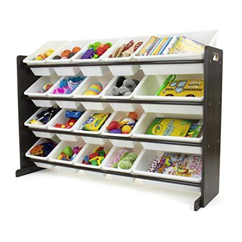 Humble Crew Toy Storage Organizer, White/Espresso