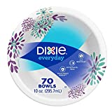 Dixie Exeryday Heavy Duty Paper Bowls, 70 Count, 10 Ounce (Pack of 1)