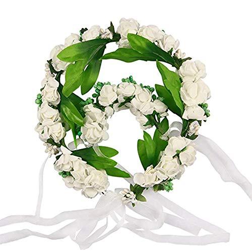 Demarkt Guirnalda de flores artificiales para el pelo, corona halo floral, corona para festivales, bodas
