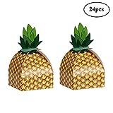 Losuya 24 x Kreative Gelbe Ananas Hochzeit Pralinenschachtel Geschenkboxen Hawaii Sommer Party Dekoration Gefälligkeiten