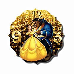 Original Handmade Wall Clock Beauty and the Beast 11.8 Get unique décor for home or office – Best gift ideas for kids, friends, parents and your soul mates