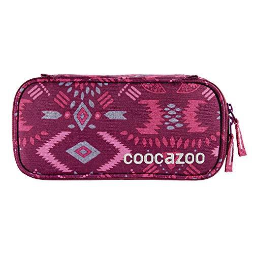 """coocazoo Federmäppchen PencilDenzel """"Tribal Melange"""" pink, Schlamperetui, Geodreieckfach, Stundenplanfach, herausnehmbarer Stiftehalter, zusätzliches Reißverschlussfach"""