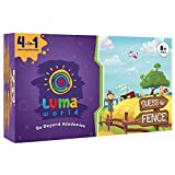 Luma World Guess The Fence 4-in-1 Educational Board Game STEM Activity Kit with 300+ Hours of Conceptual Activities for 8+ Years to Learn Geometry, Shapes and Creative Thinking