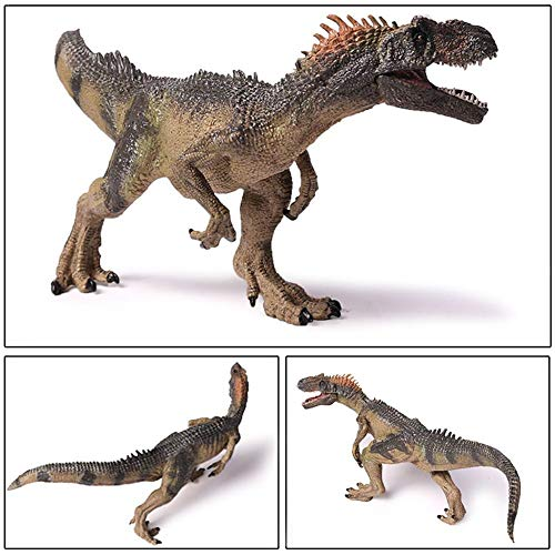 YUNJING Dinosaurio Modelo 1pc 25cm / 10inch Jurassic World Park Allosaurus Dinosaur Model Toys Animal Plastic PVC Acción Juguete para Niños Regalos