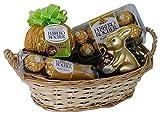 Cesta de Pascua con Ferrero Rocher (4 piezas)