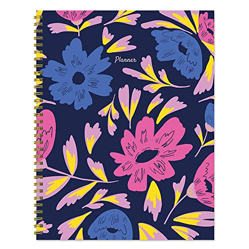 Floral Bright Blooms Large 8.5 x 11 Weekly Monthly Planner: NonDated Calendar Planner