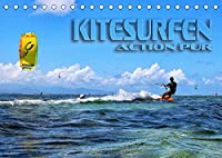Kitesurfen - Action pur (Tischkalender 2022 DIN A5 quer): Spektakulaere Actionszenen, aufgenommen an traumhaften Surfspots (Monatskalender, 14 Seiten )
