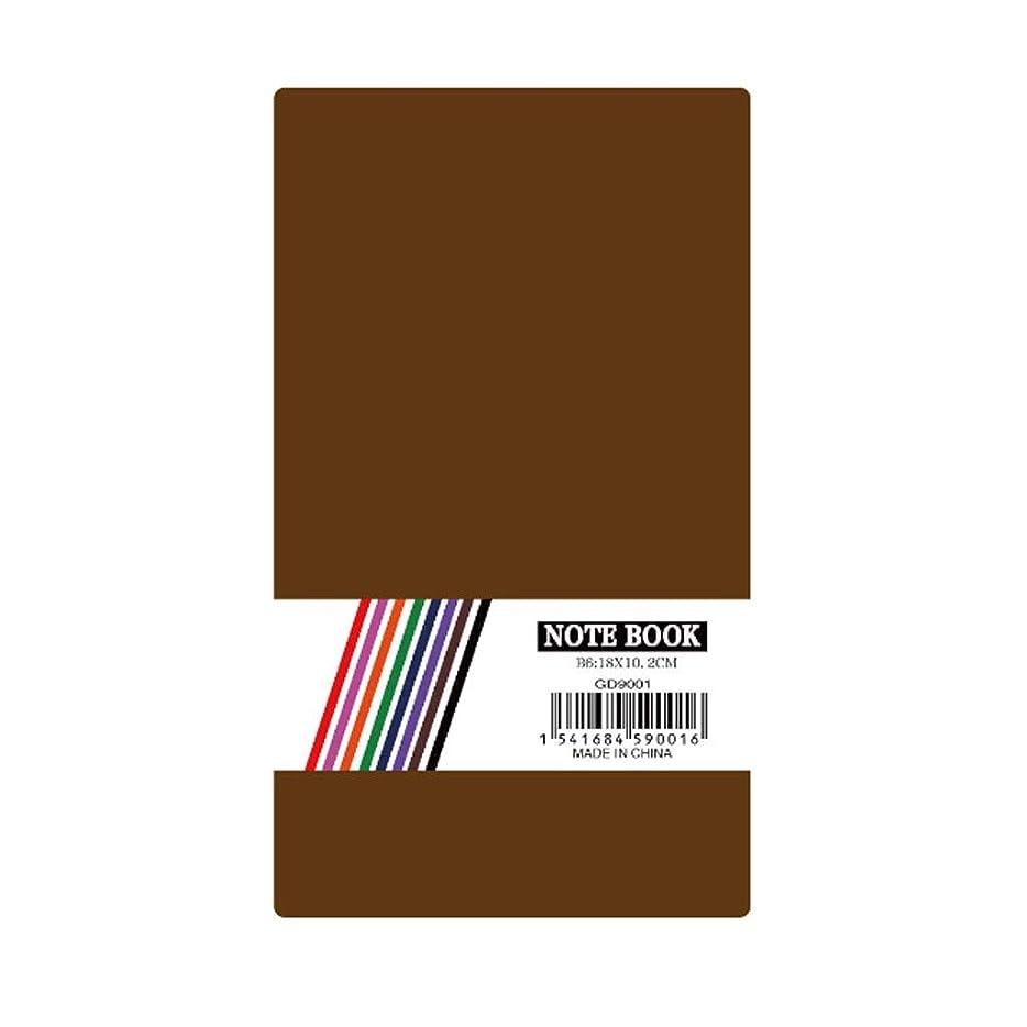 財布ビタミン昼食ノート 仕事旅行大学のためのノート支配されたジャーナルジャーナルハードカバー日記帳学習本学生普通紙タブ メモ帳 ノート (Color : Brown)