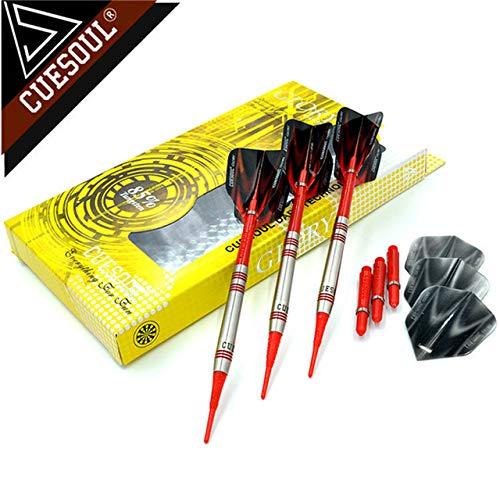 XINTANG Soft Dart Pfeile Set 85% Tungsten Darts 18G 14Cm Professionelle Soft Tip Darts Elektronische Darts Red Darts Flights Für Indoor-Sportflugspiel Für Erwachsene Und Kinder