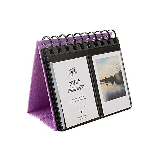 Jia Hu Mini album photo à 69 pochettes pour Fujifilm Instax Polaroid - Violet