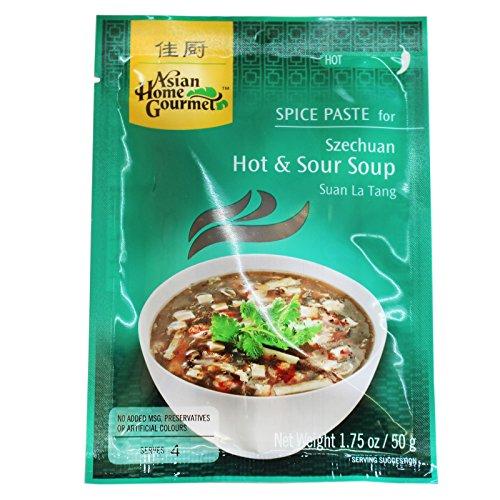 6x50g AHG Würzpaste für Szechuan pikant-saure Suppe Pekingsuppe