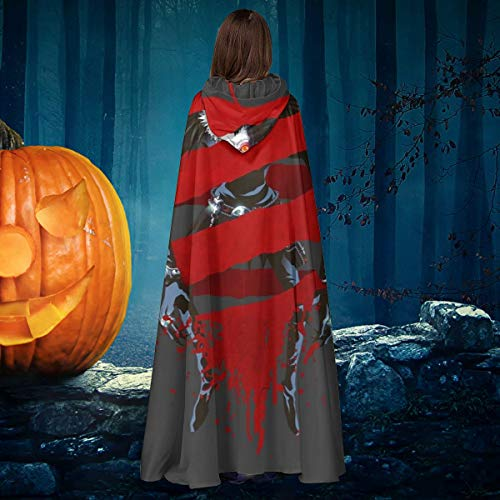 NULLYTG Death Note Ryuk Shinigami Apple Fusion Unisex Navidad Halloween Bruja Caballo con capucha Vampiros Capa Cosplay Disfraz