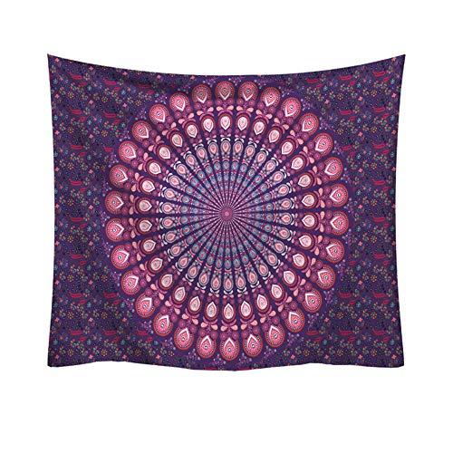 S-Chanson Tapiz Pared Mandala Aislante Psicodélico Tapices Hippies Pared Morado por Paño de Playa/Picnic/Mantel/Yoga/Meditación/Bedspread (Pattern 7, 150 x 130 cm)