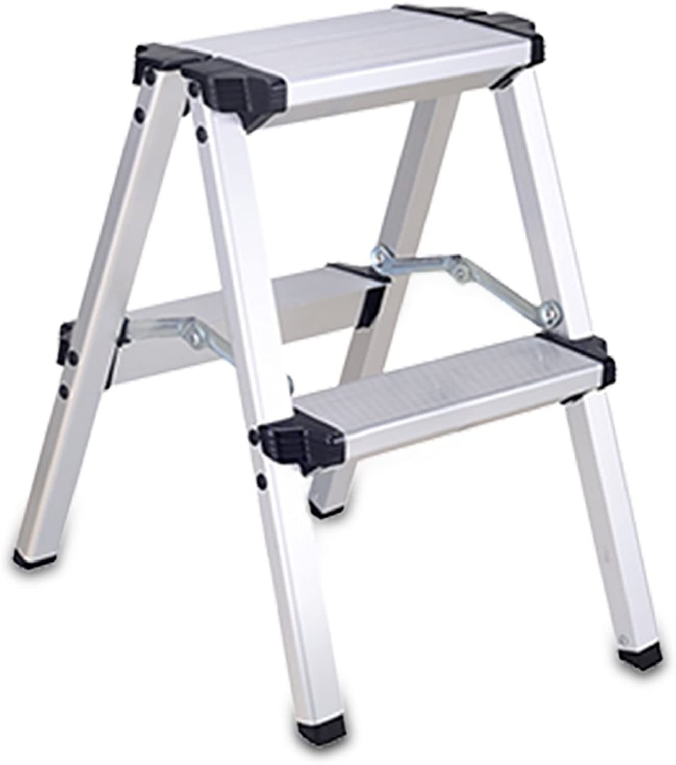 LXJYMX Home Folding Thicker Ladder, Multifunctional Indoor and Outdoor Engineering Ladder Stool, Aluminum Alloy Ladder. Climbing Ladder (Size   2-Step)