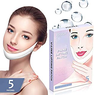 V Line Shape Face Lifting Mask, Double Chin Reducer, Chin Up Patch Lifting Mask (5Pcs)