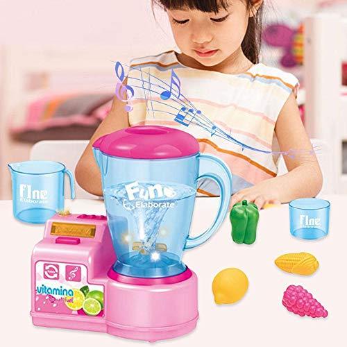 Greatideal Kinder Spielen Küche Spielzeug pädagogische Küchengerät Spielzeug mit Entsafter Mixer Mixer und andere Accessoires Geschenke für Jungen Mädchen