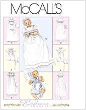 McCall's Patterns M6221 Infants' Christening Gown, Rompers with Snap Crotch in 2 Lengths and Bonnets