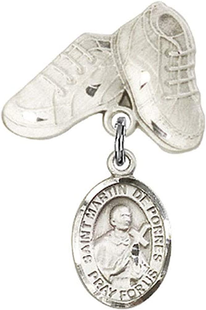 DiamondJewelryNY Baby Badge with St. Porres and Charm Martin De Ranking TOP18 Dedication