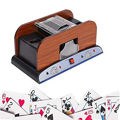 DSYYF Barajadora automática de Cartas, para máquina clasificadora de póker de 2 mazos Barajadora de Cartas ahorradora de Trabajo para Entretenimiento en el hogar