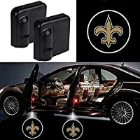 For New Orleans Saints Car Door Led Welcome Laser Projector Car Door Courtesy Light Suitable Fit for all brands of cars