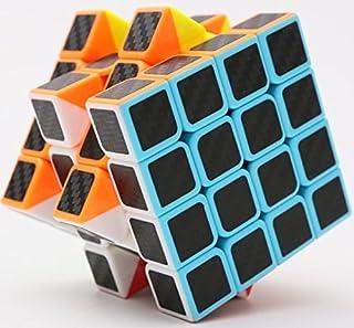 cfmour Rubiks Cube, Rubix Cube Speed Cube 4x4x4, Smooth Magic Carbon Fiber Sticker Rubix..