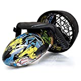 FHUA Underwater Electric Scooter, Pool Lake Ocean Underwater Scooter Waterproof Electric Sea Scooter Dual Speed Underwater Propeller Diving Pool Scooter Water Sports,A