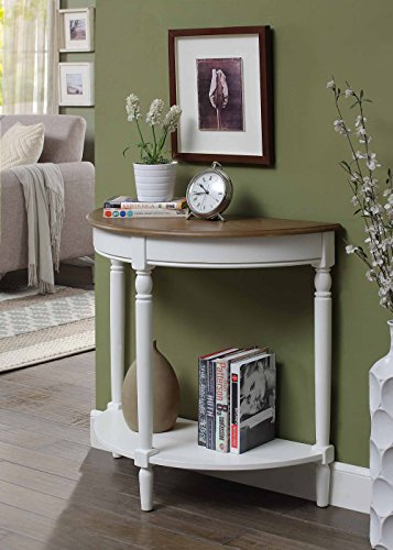 Convenience Concepts French Country Entryway Table, Driftwood Top / White Frame