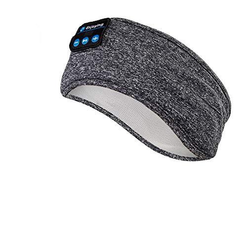 Cuffie per Dormire - Navly Bluetooth V5.0 Sonno Cuffie Fascia Sportiva con Ultra Sottili HD Stereo Altoparlanti,Perfette per Sport, Traversine Laterali, Viaggi Aerei, Meditazione e Relax
