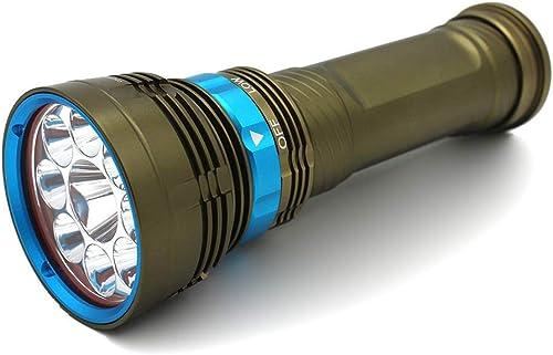 BAIYI Lampe De Poche LED en Aluminium Lampe De Poche De Plongée Lampe De Poche Haute Puissance pour éclairage Extérieur