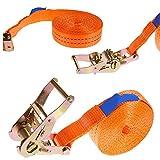 Discra 1 x 1000 kg 6 m Sangle d'arrimage avec cliquet 25 mm Orange