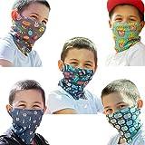 ALB Stoffe® ProtectMe - KIDS Loops Mix 5, permanent antimikrobiell, 100% Made in Germany, Ökotex® Standard 100, Mund-Nasen-Maske aus Trevira Bioactive®, waschbar, schadstofffrei, 5er Pack