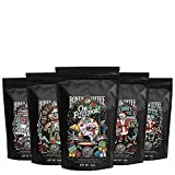 Bones Coffee Holiday Sample Pack Gift Set, Ground Coffee Beans Sampler, Flavored Coffee Gifts, Pack...