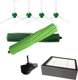 Amaae® Side Brush&Hepa Filters&Bristle Brush for iRobot Roomba i7 i7+/i7 Plus E5 E6 E7 With(Green,ABS)
