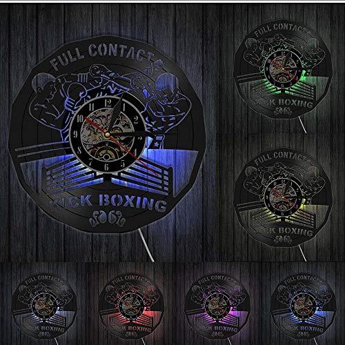 Mubgo Wandklokken Kick Boxing Gym Decor Clock bokshandschoenen bokszak vechtsport bokszak schraper geschenk Zonder licht