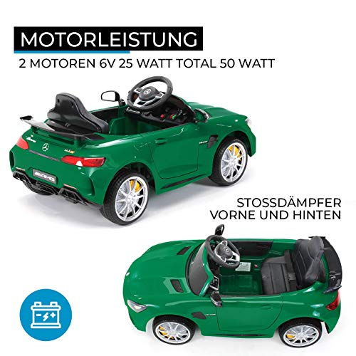 RC Auto kaufen Kinderauto Bild 3: Actionbikes Motors Kinder Elektroauto Mercedes Amg GT-R - lizenziert – 2 x 25 Watt Motor – Ledersitz - Eva Reifen – Softstart - Kinderauto (Rot)*