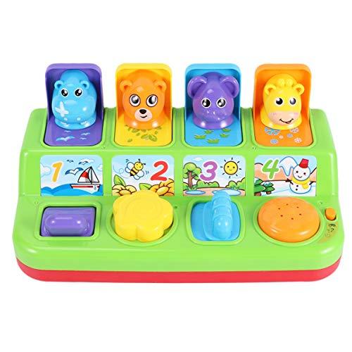 TOYANDONA Pop-Up Pals Speelgoed Kleur Sorteren Dier Push Pop-Up Speelgoed Educatief Interactief Muziek Speelgoed Voor Kinderen Kinderen Geen Batterij (Willekeurige Kleur)