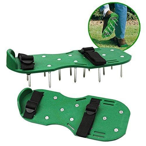 sencillo Rasenpflege Luftsprudler Belüften Sandalen Schuhe 30x 13cm Spikes Outdoor schwarz und grün Ohrstecker Stiefel